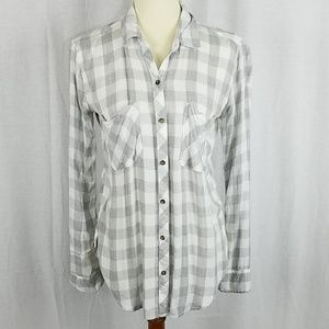 Abercrombie & Fitch | Stenciled Plaid Button Down